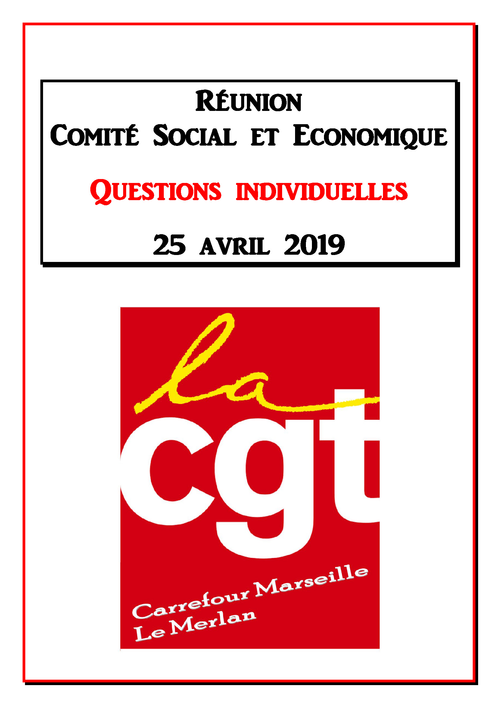 Questions Individuelles Avril 2019