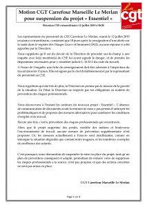 Compte Rendu Réunion CSE 12.07.2019 Projet ESSENTIEL