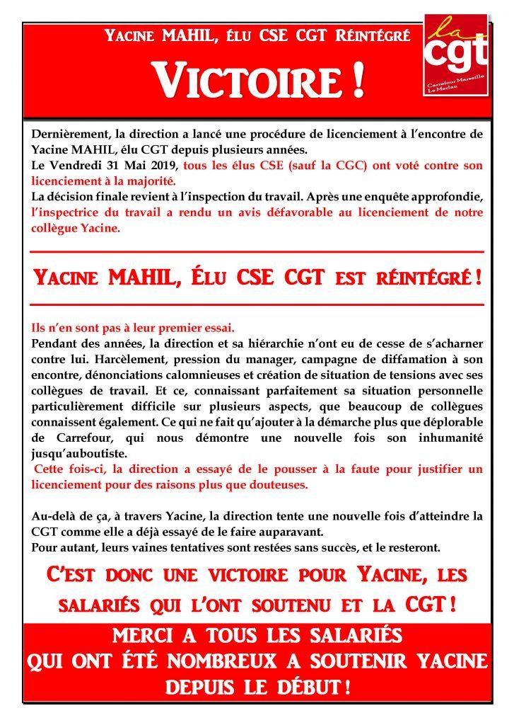 Tract réintégration Yacine