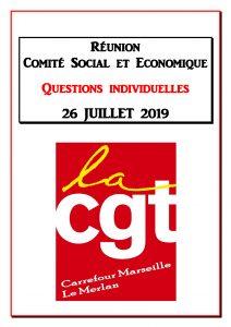 Questions Individuelles Juillet 2019