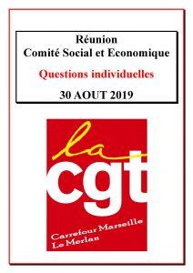 Questions Individuelles Août 2019