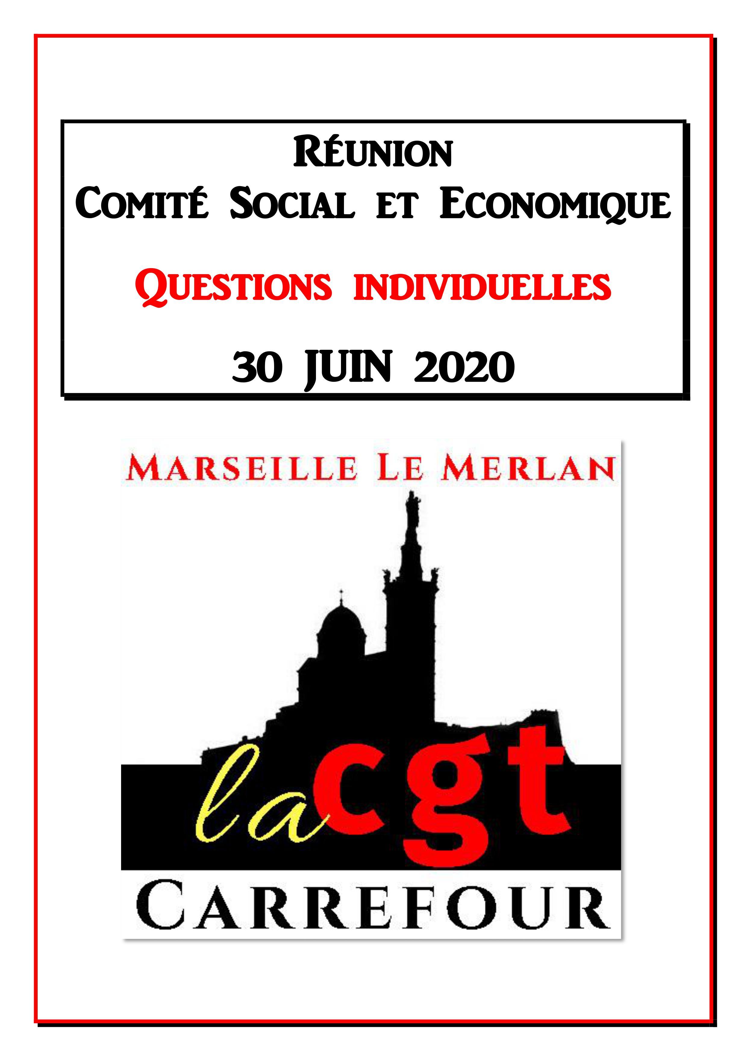 Questions Individuelles Juin 2020