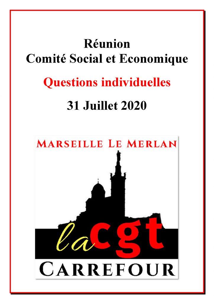 Questions Individuelles CSE 31 Juillet 2020