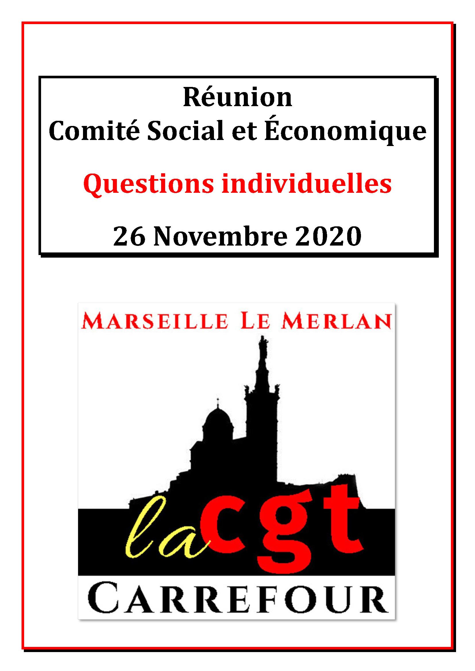 Questions Individuelles Novembre 2020