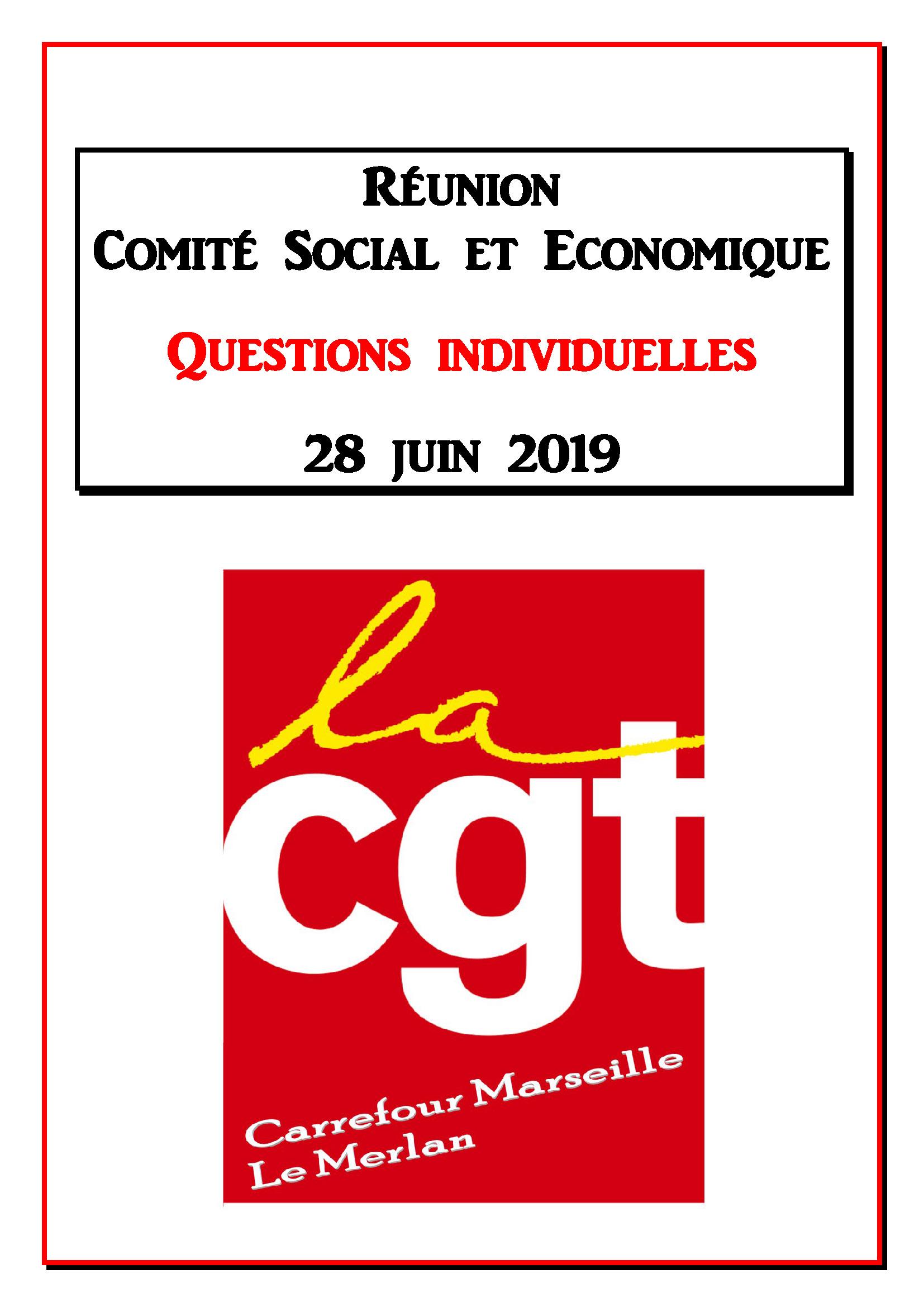 Questions Individuelles Juin 2019